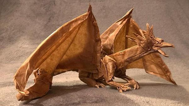 Not dragon his feet! Origami master creates magical sculptures during lockdown